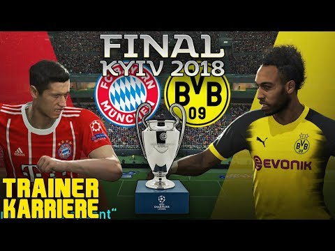 CHAMPIONS LEAGUE FINALE IN ECHTER LÄNGE!😱 Bundesliga Trainer Karriere - Pro Evolution Soccer 2018