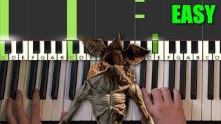 Stranger Things - Demogorgon Theme (EASY Piano Tutorial Lesson) видео