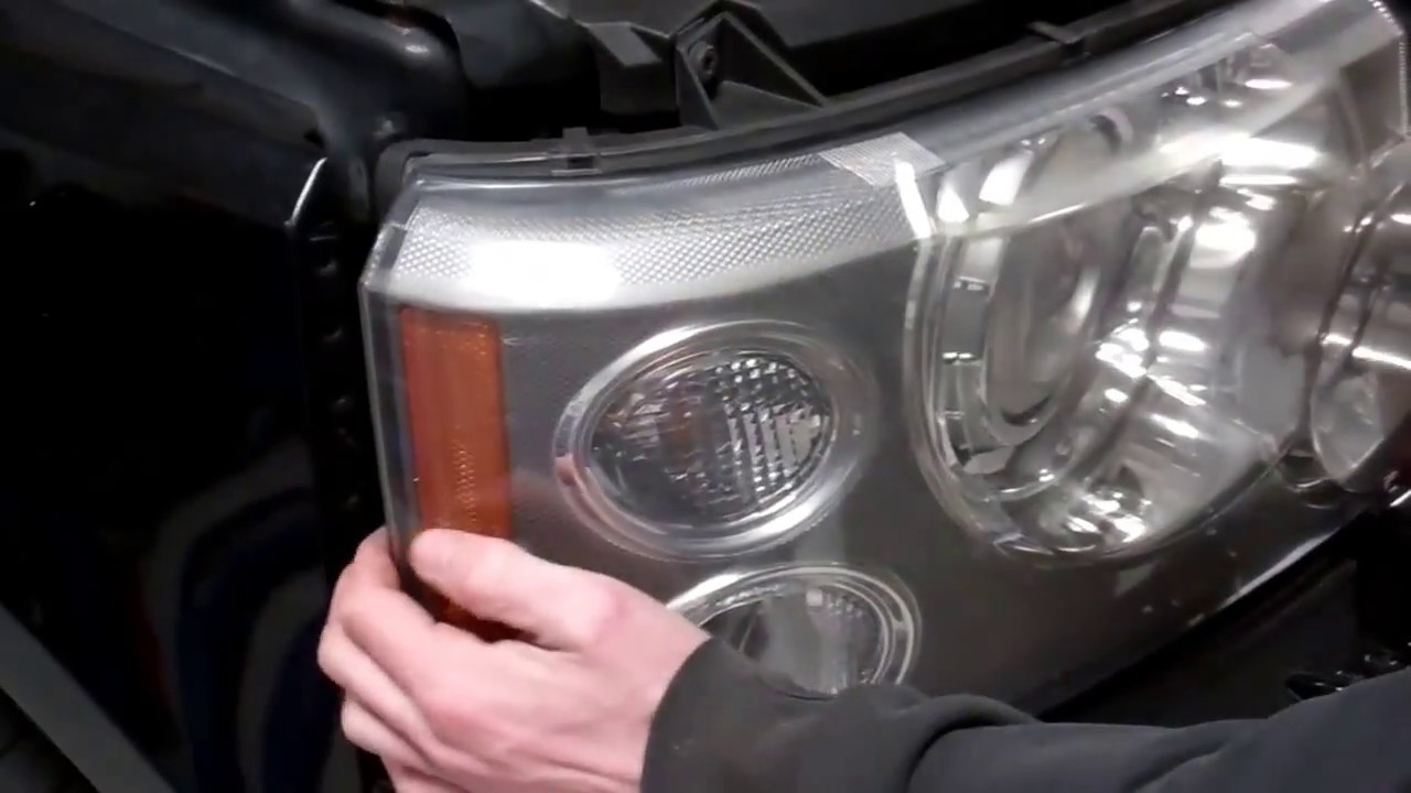 Remove headlight / change bulbs / swap to LHD on 2006 Range Rover L322