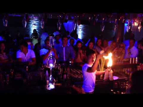 Amazing Flair Bartending Show @ Bar Rouge Shanghai - White Night June 2013
