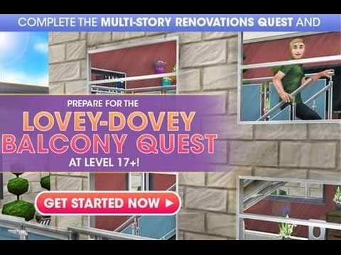 DIY HOMES Part 2: Lovey-Dovey Balcony QUEST – The Sims FreePLAY