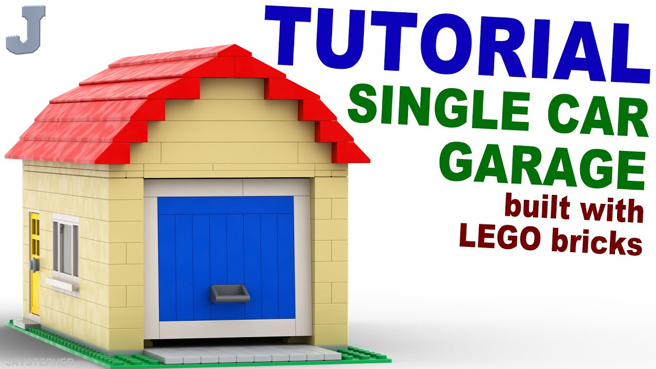 Lego Single Car Garage Tutorial How To Youtube