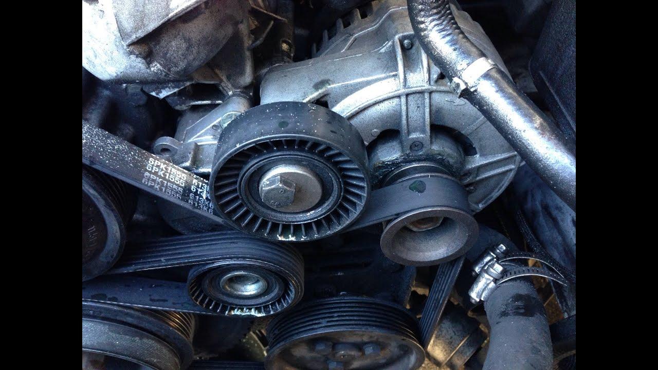 medium resolution of how to replace belt idler deflection pulley 97 03 bmw 5 series e39 528i e46 e36 e38 m5