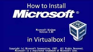 Windows 2.0 - Installation in Virtualbox