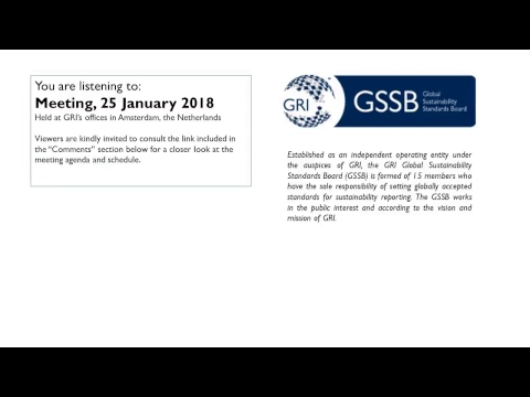 GSSB GRI Meeting 25 Januari 2018