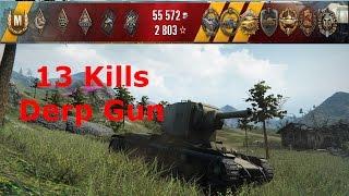 world of tanks replay kv 2 13 kills 3 4k damage epic game