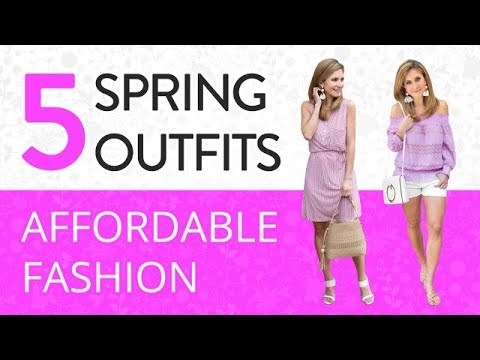 5 Spring Outfit Options Dressy to Casual | Affordable Fashion