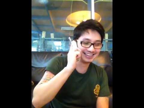 อ๋อง ปอม คุยโทรศัพท์