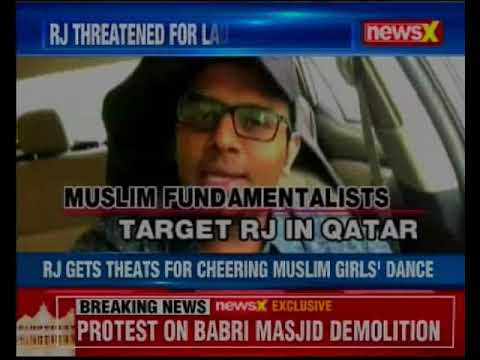 RJ gets threats for cheering muslim girls' dance; forced to apologise