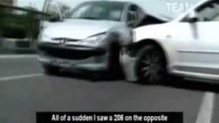 تعقيب و گريز راننده مست در تهران - ويديو