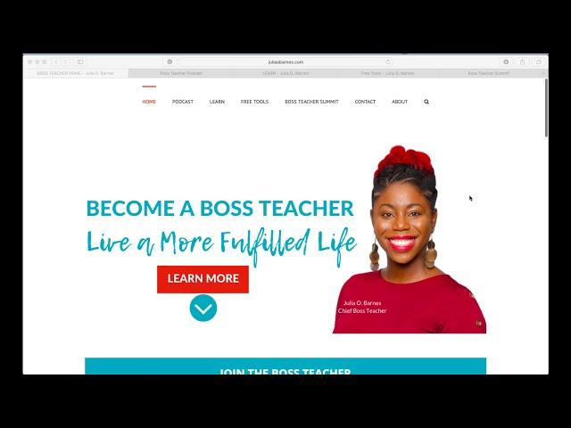 Website Updates | juliaobarnes.com | Boss Teacher