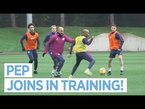 PEP JOINS IN! | Man City Training
