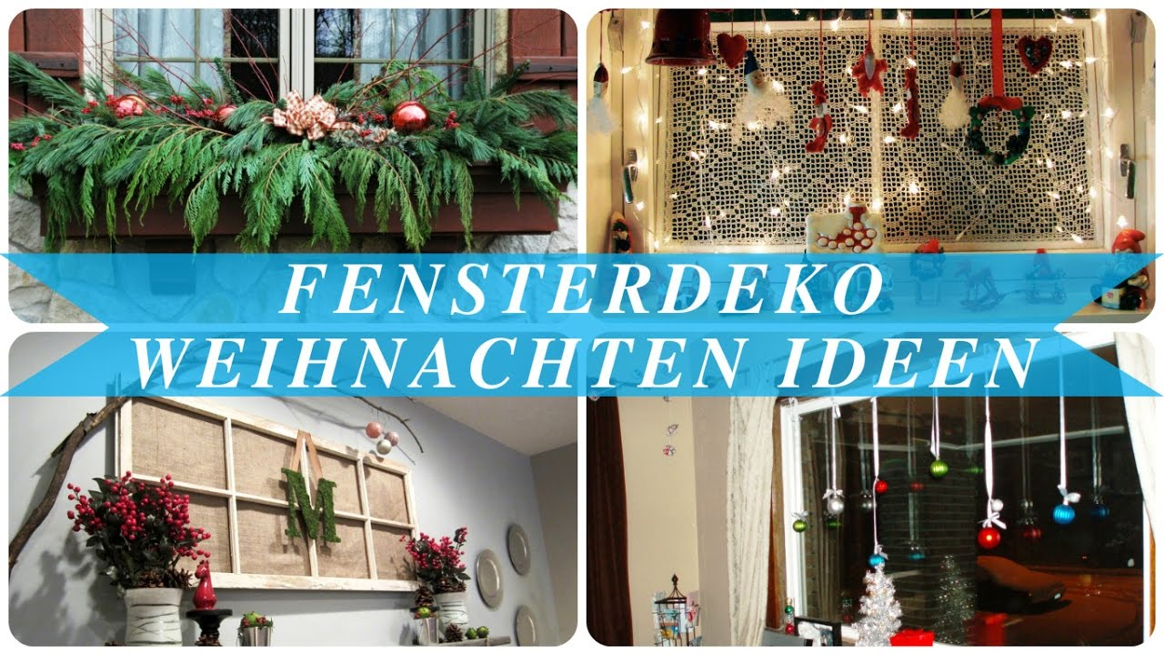 fensterdeko weihnachten ideen youtube. Black Bedroom Furniture Sets. Home Design Ideas