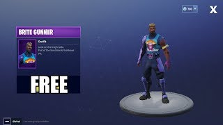Fortnite Battle Royale - HOW TO GET FREE BRITE GUNNER OUTFIT!