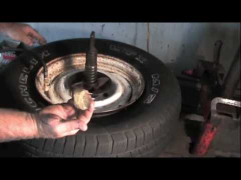 How to bead up a stubborn tire