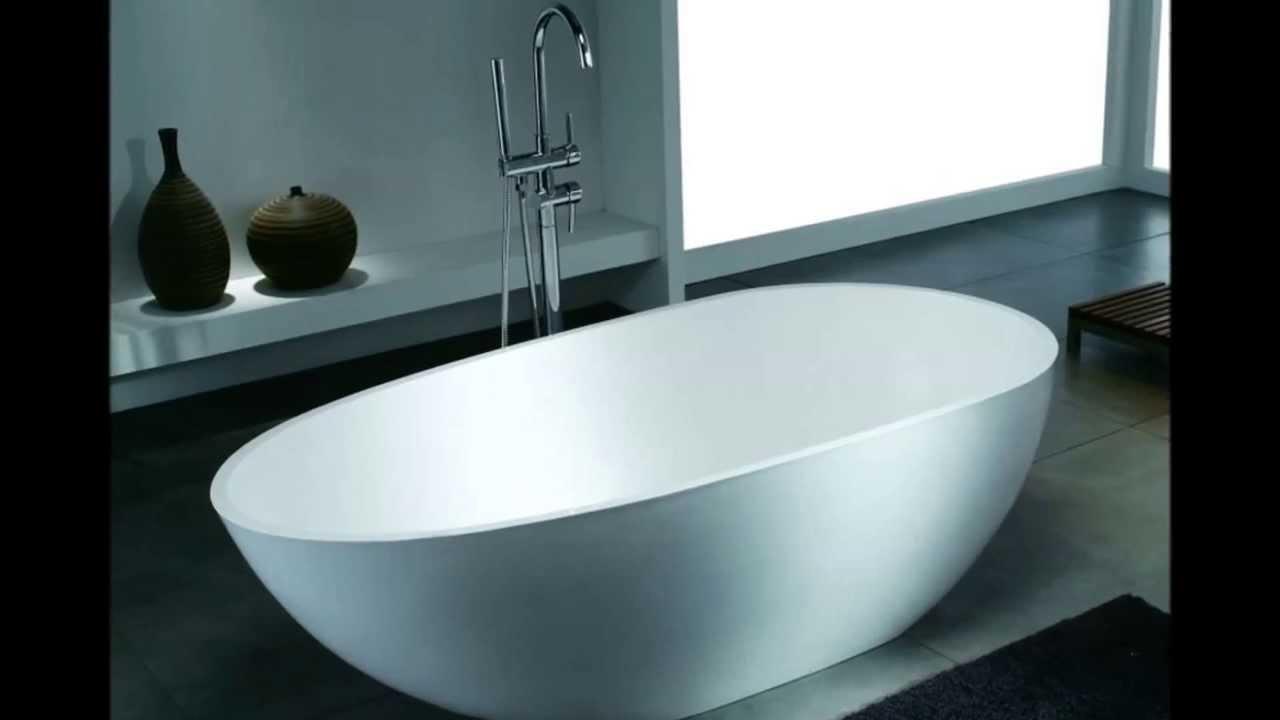 Die exklusive freistehende Badewanne aus Mineralguss von