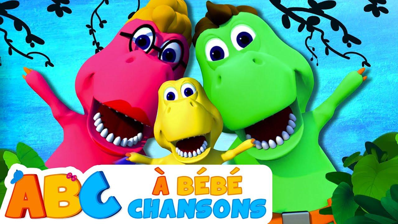 Famille de Doigt de Dinosaure - Dino Finger Family | À Bébé Chansons - 3D Comptines
