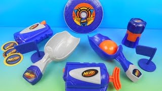 2015 NERF SET OF 5 McDONALDS HAPPY MEAL KIDS TOYS VIDEO REVIEW