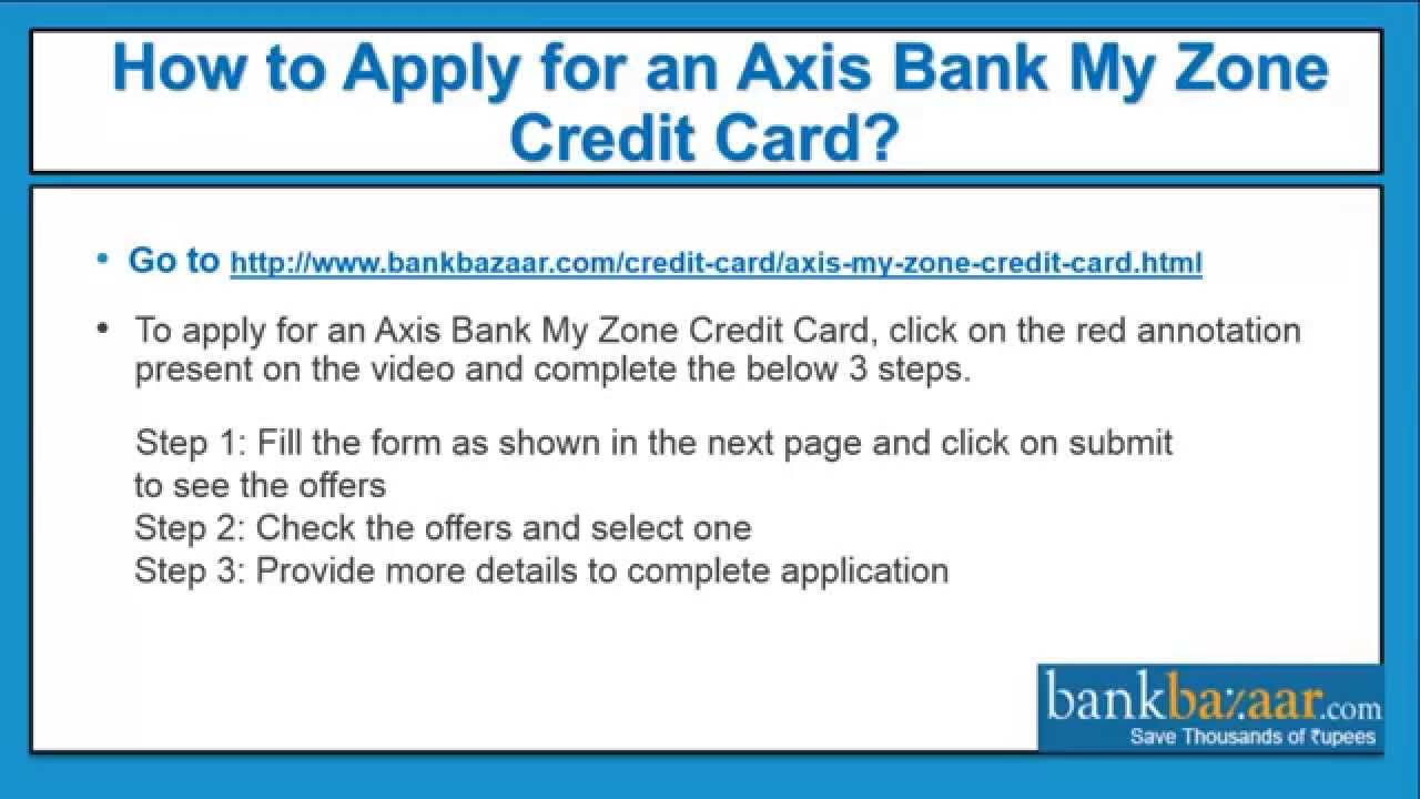 How to apply for an axis bank my zone credit card youtube colourmoves