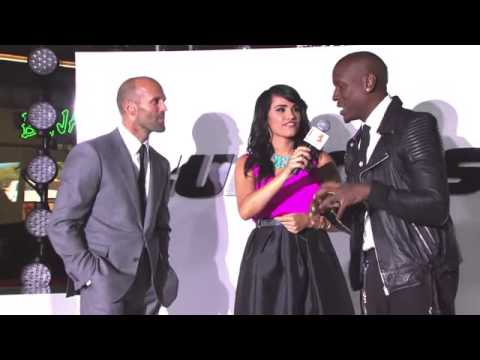 Furious 7 Premiere Interviews   Jordana Brewster, Jason Statham, Tyrese Gibson