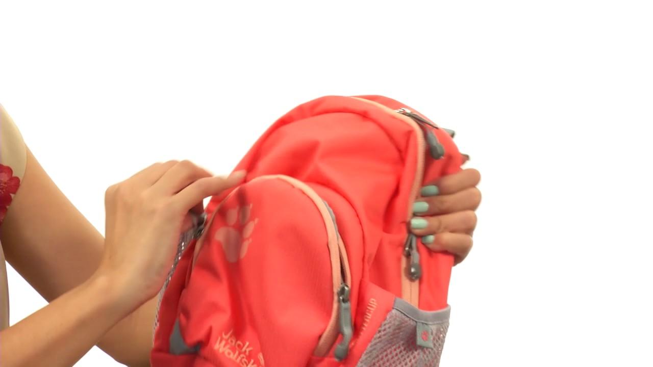 Jack Wolfskin Kinderrucksack Buttercup azalea red
