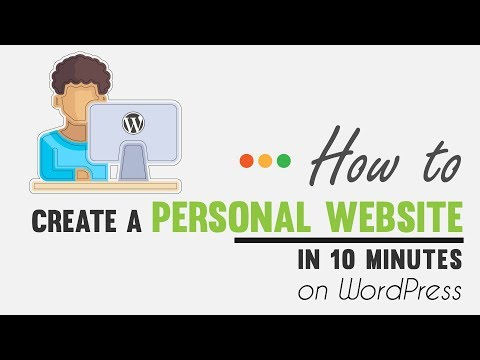 How to Create a Personal Website in 10 Minutes on WordPress  [Type 1]