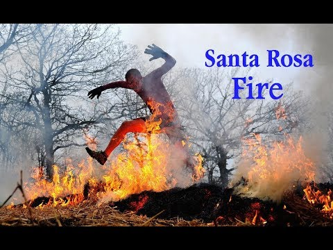 Santa Rosa Fire Map - mandatory evacuations