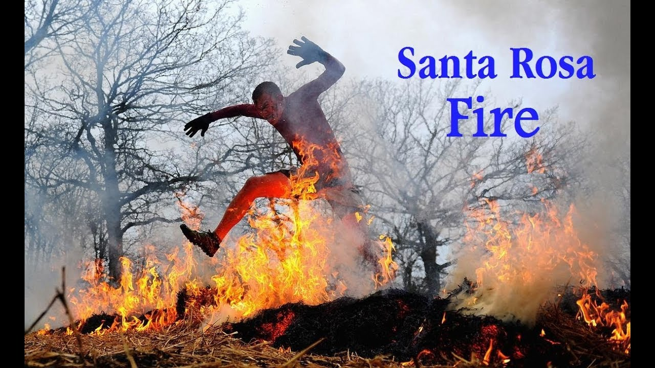 Santa Rosa Fire Map Mandatory Evacuations Youtube