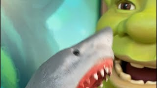 SHARK PUPPET MEETS SHREK!!!!!