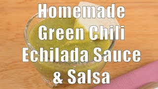Homemade Green Chile Salsa &amp Enchilada Sauce (Home Cooking 101) DiTuro Productions