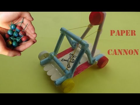 How to Make Powerful Cannon From Paper - Paper Cannon
