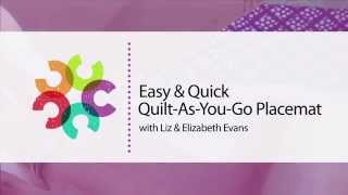 Easy And Quick Quilt-as-you-go Placemat