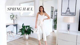 SPRING TRY-ON HAUL | Zara, ASOS, Mango, Valentino | Annie Jaffrey