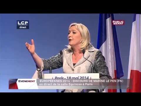 Meeting de Marine Le Pen à Paris - Elections Européennes 2014