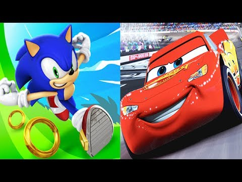 Disney Cars 3 Lightning Mcqueen Vs Sonic Dash Youtube