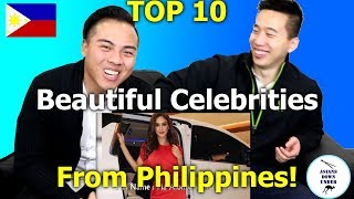 Top 10 Most Beautiful Celebrities In Philippines   Asian Australians - Reaction