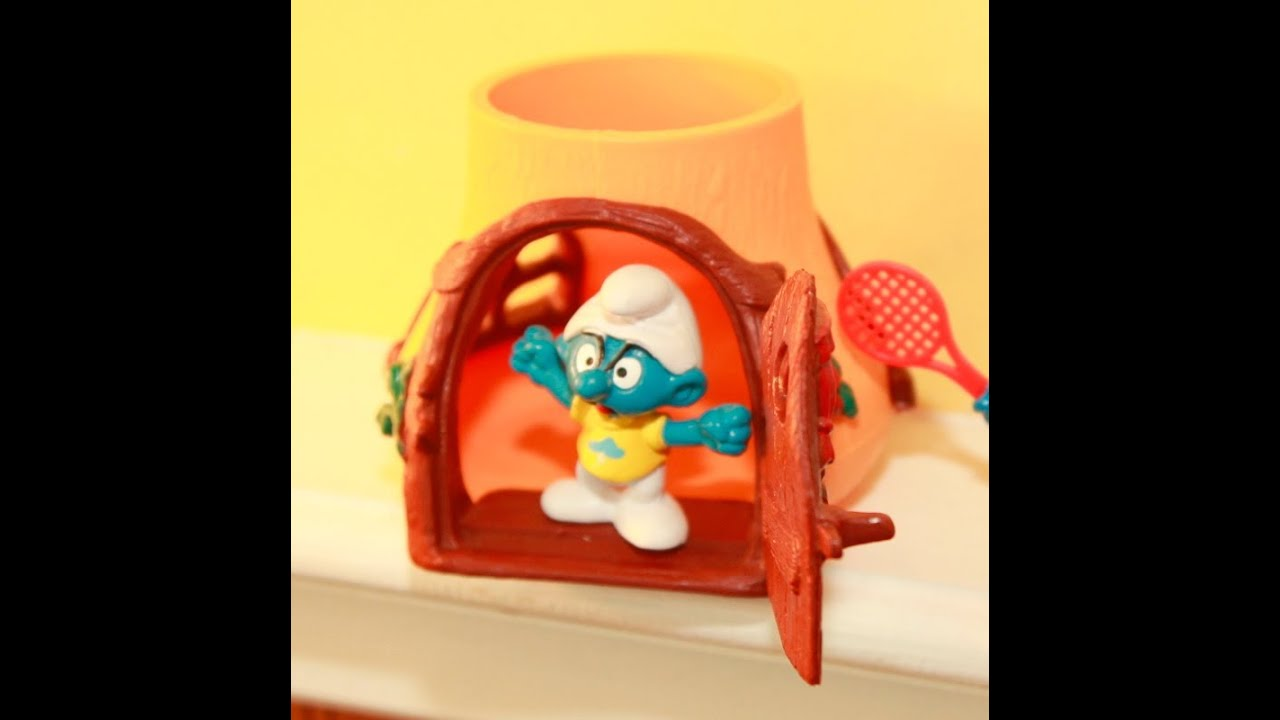 1990s Music Toys : Smurfs toys s complete figurine collection youtube