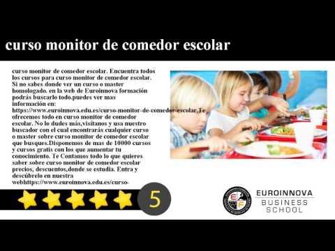 Curso Monitor De Comedor Escolar Homologado Casa Dise O