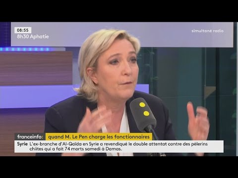 Interview de Marine Le Pen (FRANCE INFO, 13/03/17, 8h30)