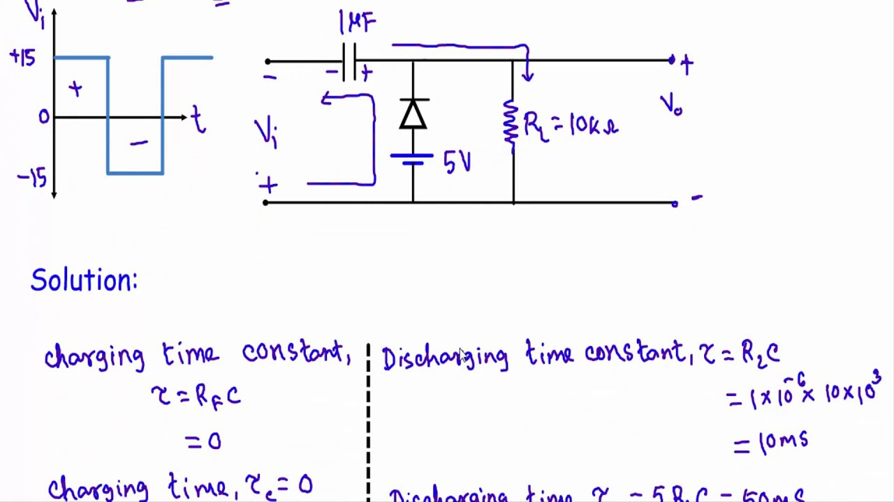Circuit Diagram Of Clipper And Clamper 1989 Honda Accord Stereo Wiring Biased Positive Example 1 Youtube
