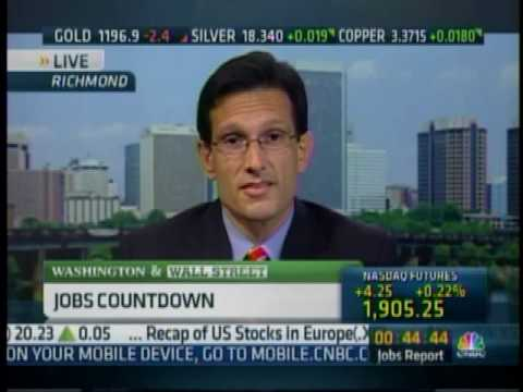Republican Whip Eric Cantor On Job Creation & The Impending Obama Tax Hikes