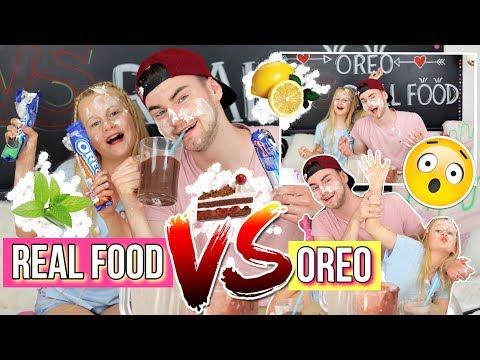 ESKALIERT😳REAL FOOD VS OREO SMOOTHIE CHALLENGE MaVie