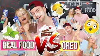 ESKALIERT😳REAL FOOD VS OREO SMOOTHIE CHALLENGE MaVie