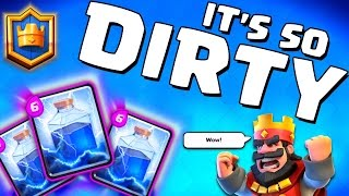 "Clash Royale ""DIRTY LIGHTNING SPELL STRATEGY!"" Defensive Lightning Gameplay!"