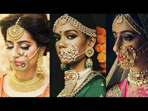 Latest Bridal Gold Nose Ring Design 2018 Gold Nath Design For