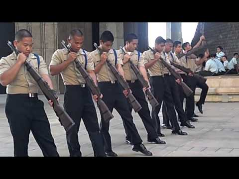 Drill team at the Hawaii State Capitol 2012