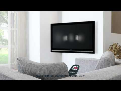Support TV mural slim motorisé Vogel's THIN RC 355