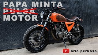 modifikasi papa minta motor - refreshing orange - yamaha scorpio japstracker