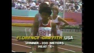 Olympics - 1984 L A - Track - Womens 200m - JAM Grace Jackson & USA Randy Givens imasportsphile.com
