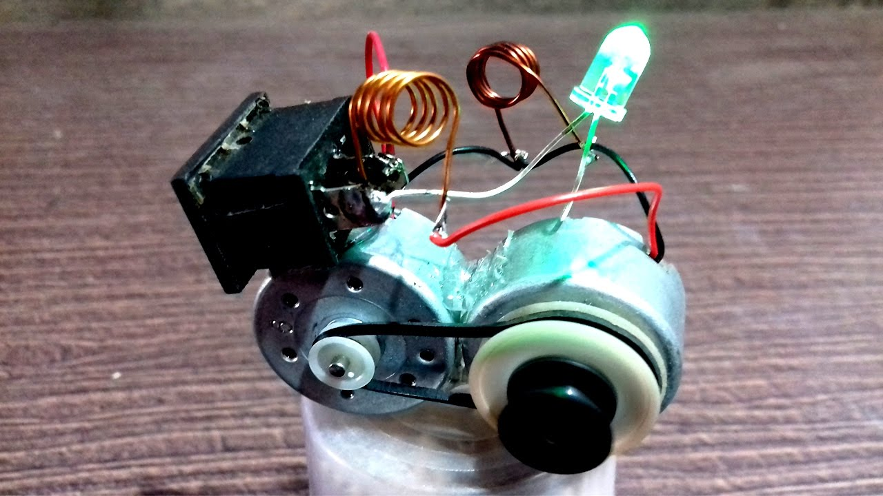 Free Energy Generator Using 2 Motor Youtube